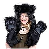 Black cat City Hunter Animal FULL Hoods Spirit hoods Hat