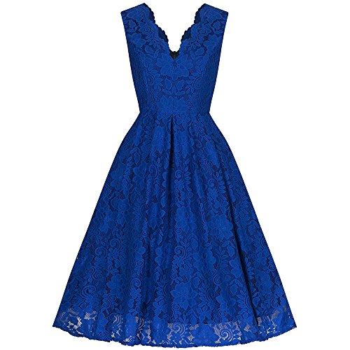 Pretty Kitty Fashion Damen Kleid blau blau Large