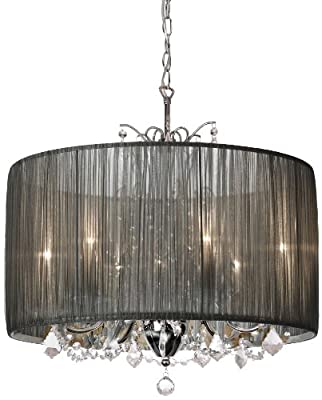 Dainolite Lighting VIC-205C-PC-316 Modern 5-Light Chandelier, Polished Chrome