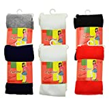 Angelina 6-Pair-Pack Girls Winter Tights #001_Assorted_Large