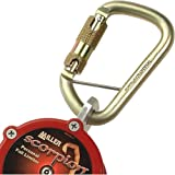 Miller by Honeywell PFL400No.-8/9FT 400-Pound Scorpion Personal Fall Limiter with Captive Eye Carabiner and Locking Snap Hook