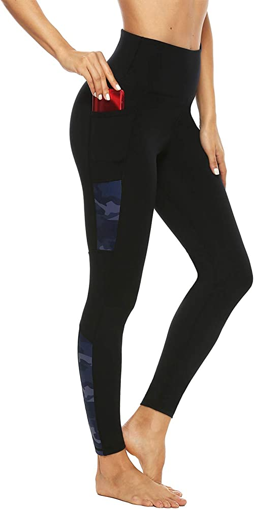 Persit High Waist Yoga Pants with Pockets for Women Non See-Through Tummy Control 4 Way Stretch Workout Athletic Leggings