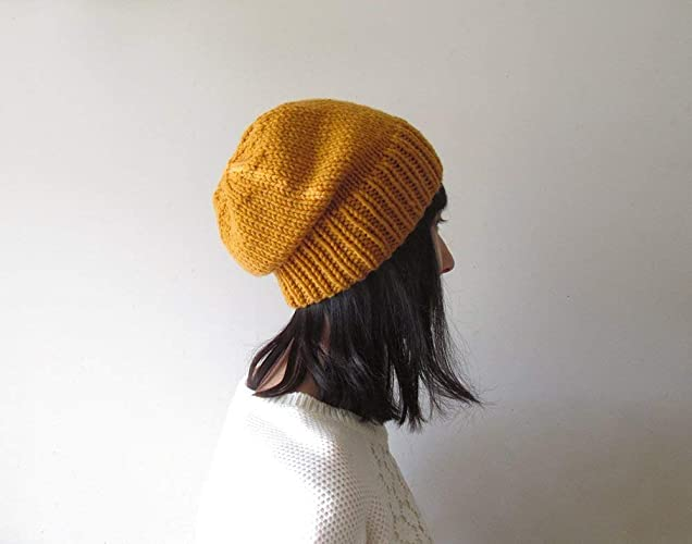 Amazon.com  Mustard Yellow Slouchy Hat c48fc2c439f