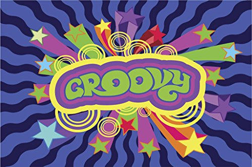 (Groovy Style Retro 1970s Expression Art Print Poster 18x12)