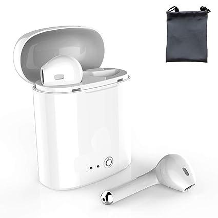Auriculares Bluetooth con micrófono Integrado, Dos Auriculares y Caja de Carga, Compatible con Samsung