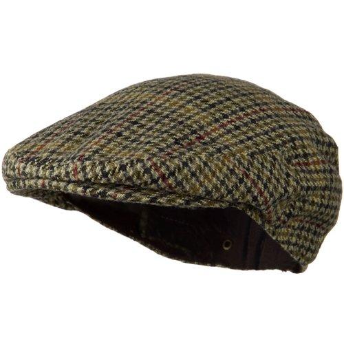 (Wool Snap Front Men's Ivy Cap - Moss Plaid XL)