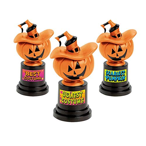Best Large Group Halloween Costumes (Halloween Jack-O-Lantern Costume Contest Trophies Trophy - 12)