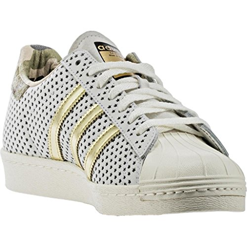 Adidas Originals Heren Superstar 80s Vintage Wit / Zwart-wit