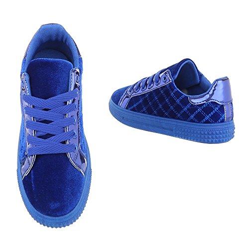 Ital-Design - Tobillo bajo Mujer Azul