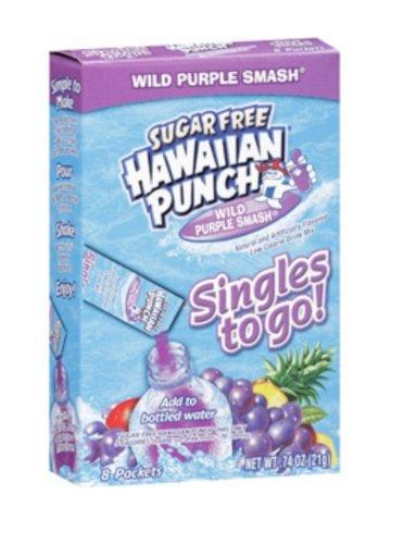 Hawaiian Punch - Sugar Free Variety (Wild Purple Smash Pack of 4)