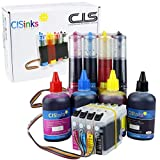 CISinks Continuous Ink Supply System with Refill Ink Bottle Set for Brother LC203 LC205 MFC J4320DW J4420DW J4620DW...