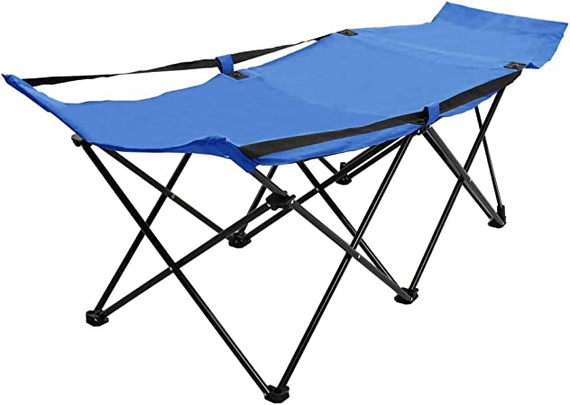 Steels Outdoor Folding Bed Portable Military For Camping Cot Bed For Hiking UK