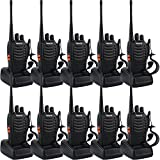 (US) Retevis H-777 Two-Way Radio Long Range UHF 400-470 MHz Signal Frequency Single Band 16 Channels with Original Earpiece (Pack of 10)