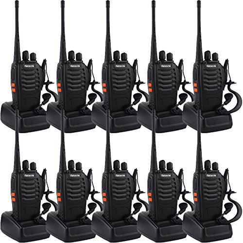 Retevis H-777 Two-Way Radio Long Range UHF 400-470 MHz Signal Frequency Single Band 16 Channels with Original