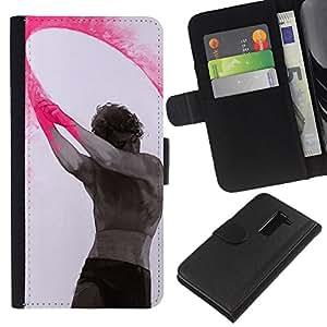 For LG G2 D800 Case , Paint Indian Holiday Man Art - la tarjeta de Crédito Slots PU Funda de cuero Monedero caso cubierta de piel
