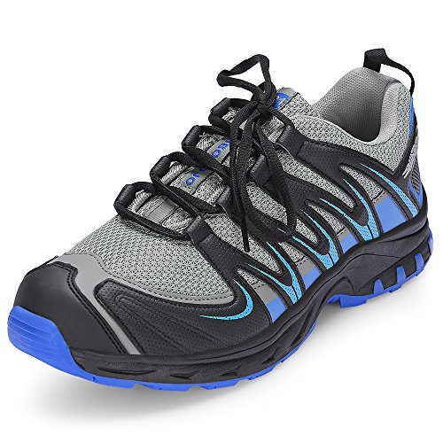 - KCatsy Casual Round Toe Lace-up Non-Slip Mesh Outdoor Sneakers Men Running Shoes Grey