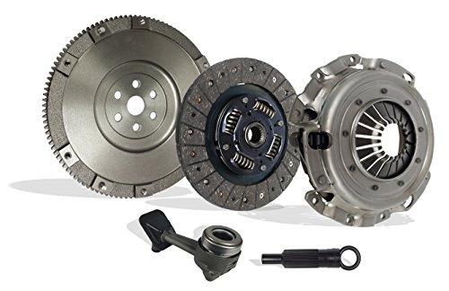 Clutch Kit Set Upgrade To Solid Flywheel Works With Ford Focus St Zx4 Lx Se Zts Ztw Zx3 Zx5 Sedan Wagon Hatchback 2004-2007 2.3L L4 Gas Dohc Naturally Aspirated