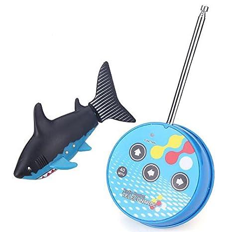 Submarino con forma de tiburón Rc Mini eléctrico / Barco: Raya y caja de empaquetado: Amazon.es: Juguetes y juegos