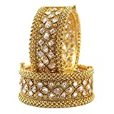 Product review for MUCH-MORE Great Collection Bollywood Fashion Gold Plated Tone Indian Polki Traditional Bangles/Bracelets Jewelry for Women