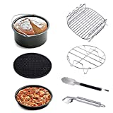KINDEN Air Fryer Accessories Universal 7-Pieces per Set, air Fryer Baking pan Suitable for Gowise Phillips Cozyna and More