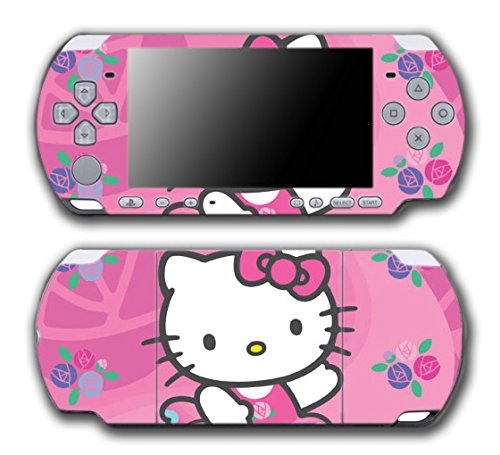 Hello Kitty Ballerina Ballet Dance Pink Flowers Dress Video Game Vinyl Decal Skin Sticker Cover for Sony PSP Playstation Portable Slim 3000 Series System