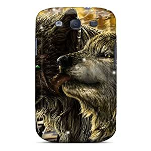 New Cute Funny Fantasy Wolves Love Case Cover/ Galaxy S3 Case Cover