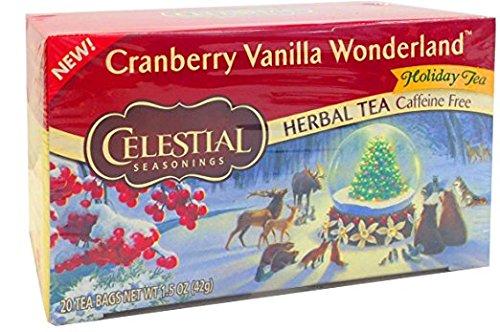Celestial Seasonings Cranberry Vanilla Wonderland, 20 count Pack of - Seasonings Cranberry Celestial