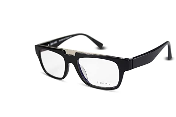 81cd5e87453e ALAIN MIKLI Brille Eyeglasses A01342 col.0101 Black  Amazon.de ...