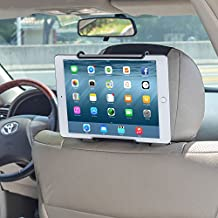 TFY Universal Car Headrest Mount Holder with Angle- Adjustable Holding Clamp for Tablet - iPad 2 / 3 / 4 - iPad Mini - iPad Air - iPad Pro - Samsung Galaxy Tab S2 - Tab A and More