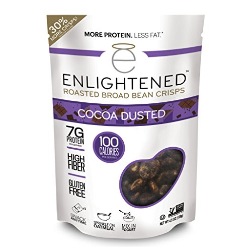 (Enlightened Roasted Broad Bean Crisps - Cocoa Dusted 4.5 oz / Singles)
