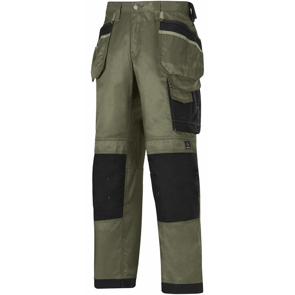 """Snickers 32123204042 Size 42 """"DuraTwill"""" Craftsmen Trousers - Olive"""