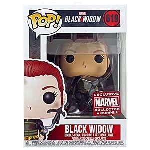 51tTIYhfNTL. SS300 POP! Marvel Collector Corps Exclusive Black Widow #619 w/ Protective Case