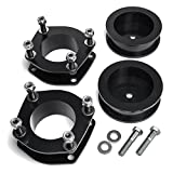 """Heavy Metal Suspensions - Fits 2005-2010 Jeep Grand Cherokee WK And 2006-2010 Jeep Commander XK 3"""" Front Strut Spacers + 3"""" Rear Spring Spacers High Strength Carbon Steel Lift Kit"""