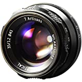 7artisans 35mm F1.2 APS-C Manual Focus Lens for Fuji X Mount X-A1, X-A2, X-AT, X-M1, XM2, X-T1, X-T2, X-T10, X-Pro1, X-E1, X-E2