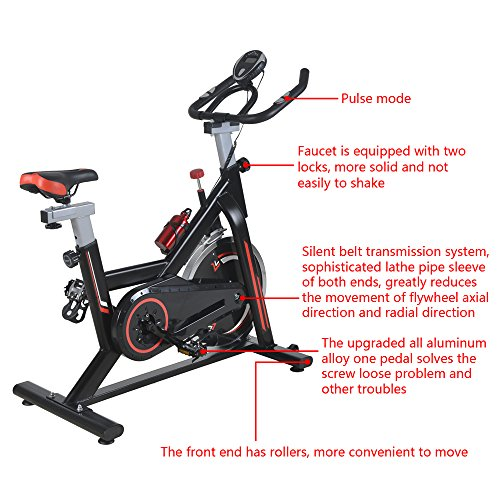 Lovinland Indoor Exercise Cycling Bike 15KG Flywheel Training Cycle Fitness Spinning for Home Office Gym