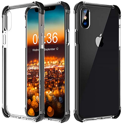 Matone iPhone Xs Max Case, Crystal Clear Slim Protective Cover with Reinforced Corners, Soft TPU Bumper Edges & Transparent Hard PC Back Hybrid Cases for Apple iPhone Xs Max (2018) 6.5-Inch