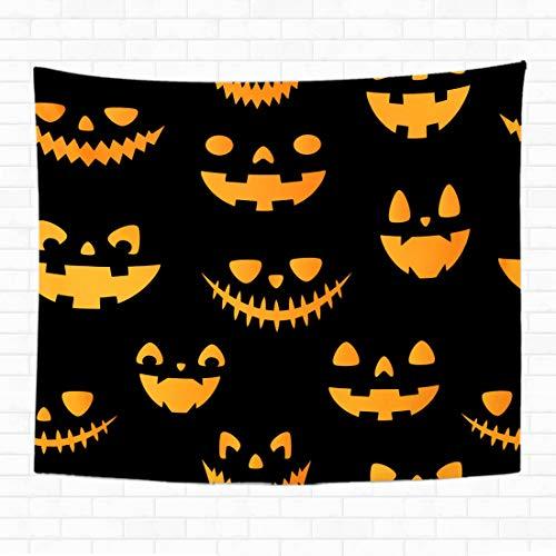 Topyee Home Decorative Tapestry Wall Hanging Halloween Autumn Fall Cute Pumpkins All are Hidden Under 60
