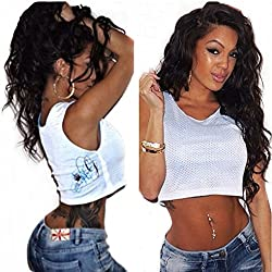 """Sunwell Lace Front Wigs Human Hair for Black Women 100% Virgin Brazilian Human Hair Wigs with Baby Hair Natural Wave Natural Color (130% Density, 18"""")"""