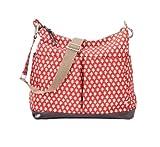 OiOi Hobo Diaper Bag, Red/White