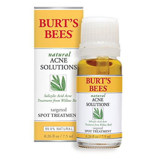 Burt's Bees Natural Acne Solutions Targeted Spot Treatment for Oily Skin, 0.26 Ounces (Treatment Solution)