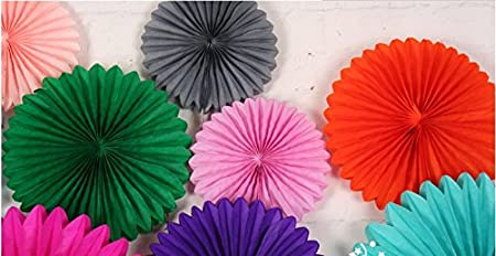 zorpia 16 Lavender Party Decorations for Weddings 40cm Baby Showers and Nursery Decor Set of 6 Tissue Paper Fan Hanging Fan Tissue Paper Decorative Fan Birthday Parties