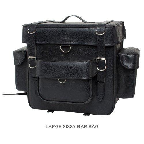 (CUSTOM BILT Extra Large Sissybar Bag - XL, Black )