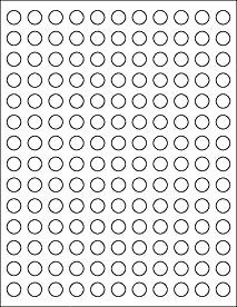 picture relating to Circle Labels Printable titled (12 SHEETS) 1848 1/2\