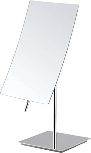 Mirko 5X Magnification Rectangle Countertop Adjustable Vanity Makeup Mirror,Polished Chrome Finish