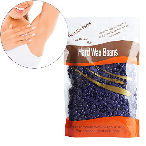 Hard Wax Beans Hisight Profession Depilatory Solid Granules Hard Wax Beads- Hair Removal for Man and Woman 10 oz/ 300g (Lavender taste)