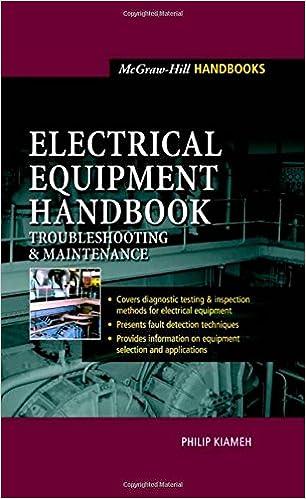 Electrical Equipment Handbook Troubleshooting And Maintenance Pdf