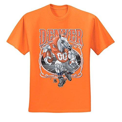 Wild Bobby Denver Fan | DEN Fantasy Football | Mens Sports Graphic T-Shirt, Orange, 3XL