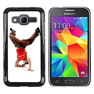 Caucho caso de Shell duro de la cubierta de accesorios de protección BY RAYDREAMMM - Samsung Galaxy Core Prime - Design Break Dancer Man