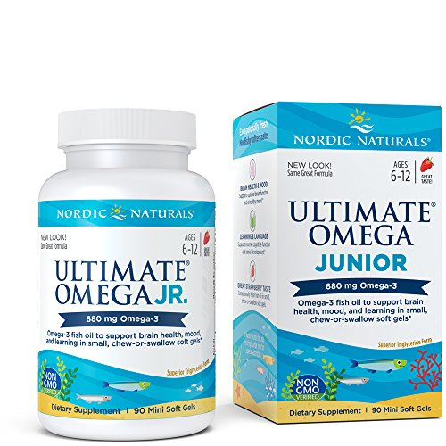 Nordic Naturals - Ultimate Omega Junior, Support for a Healthy Heart, 90 Soft Gels (90 Chewable Junior)