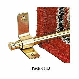 Renovator\'s Supply 88399 Carpet Rod Finials Barrel, Solid Brass, 1/2-inch, Pack of 13